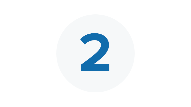Blue Icon for Step Two