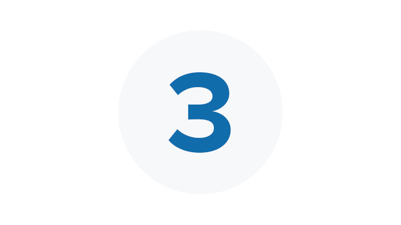 Blue Icon for Step Three