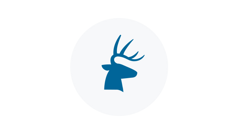 Blue Icon of a Trophy Buck