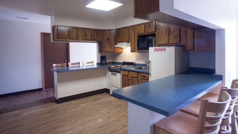 NRA Whittington Center Competitor Lodging Unit 1 Kitchen
