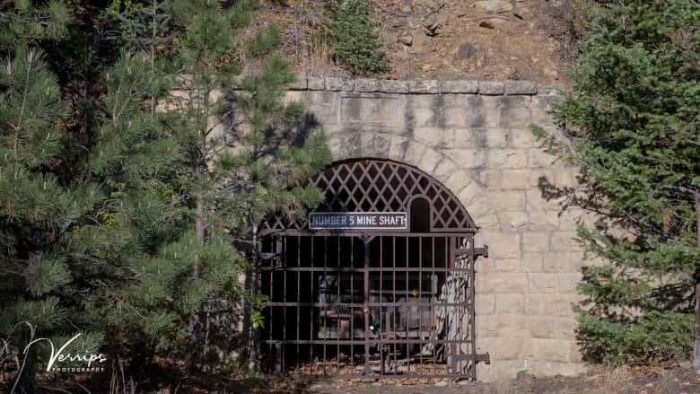 The Van Houten Coal Mine Entrance at NRA Whittington Center in New Mexico