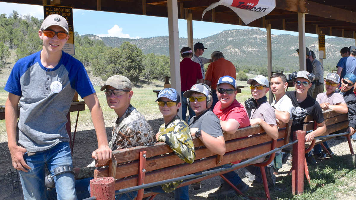 Adventure Camp youths enjoying the range at the NRA Whittington Center in New Mexico