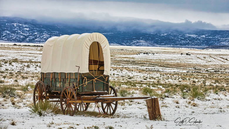 Covered Wagon on the Santa Fe Trail at the NRA Whittington Center