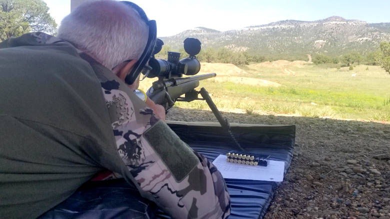 Precision Long Range Class from the Whittington University Prone Position Looking Down Range
