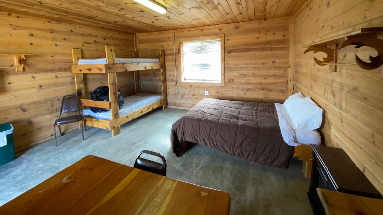 RV Log Cabins at the NRA Whittington Center