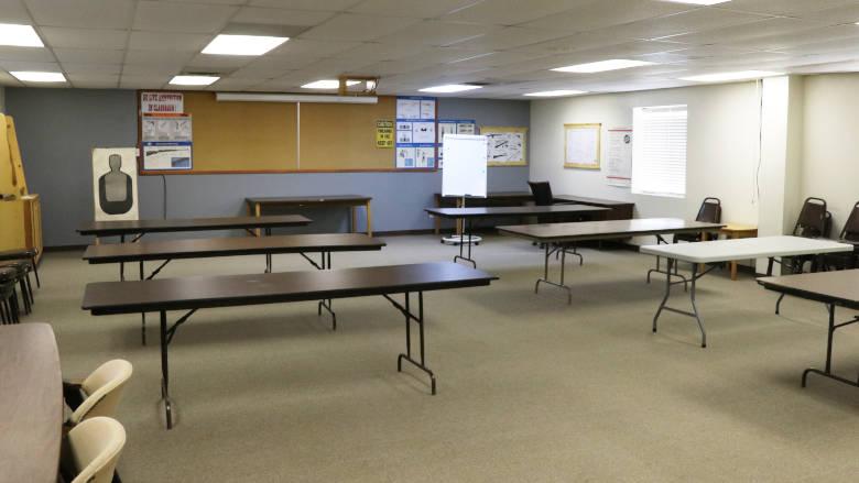 Michael F. Ajax Classroom at the High Power Rifle Silhouette Range inside the NRA Whittington Center